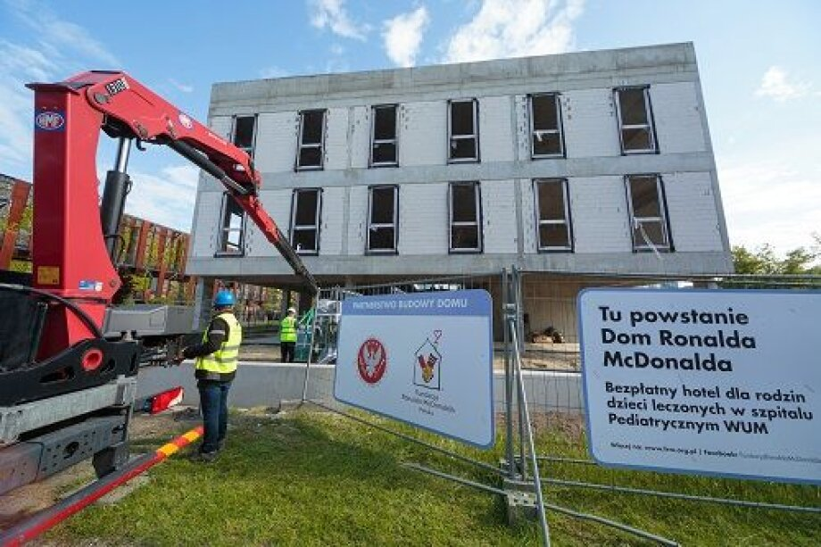 Press Glass supports construction of 2nd Polish Ronald McDonald Foundation House