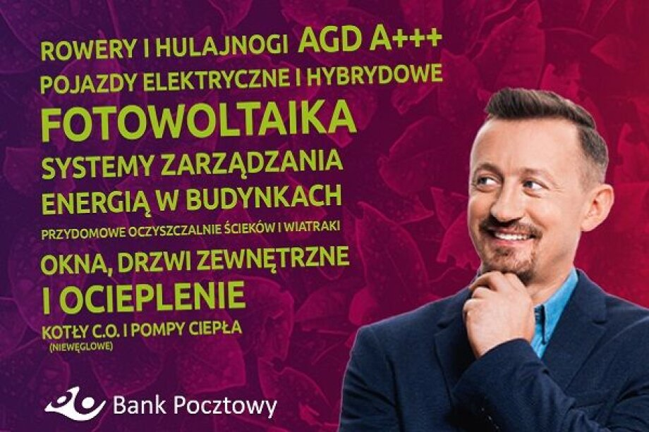 Bank Pocztowy supports ecological investments of Poles